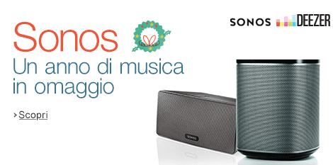 Sonos Deezer musica in omaggio