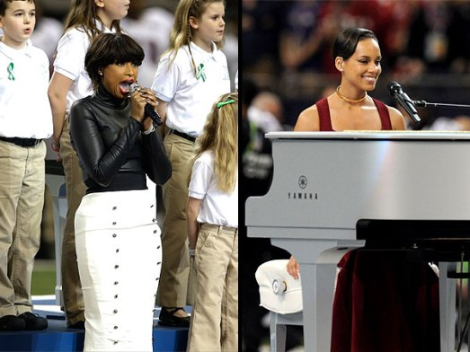 Jennifer Hudson & Alicia Keys, Super Bowl