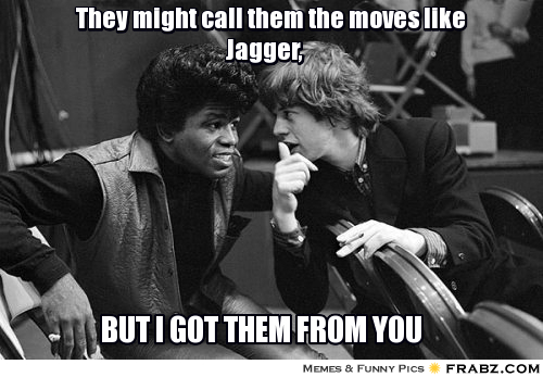 Mick Jagger, James Brown